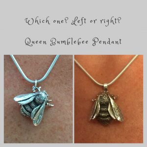 Which Queen Bumblebee Pendant do you prefer? Emma Keating Jewellery